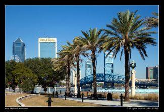 Southbank Riverwalk along the St. Johns River in Jacksonville, Florida