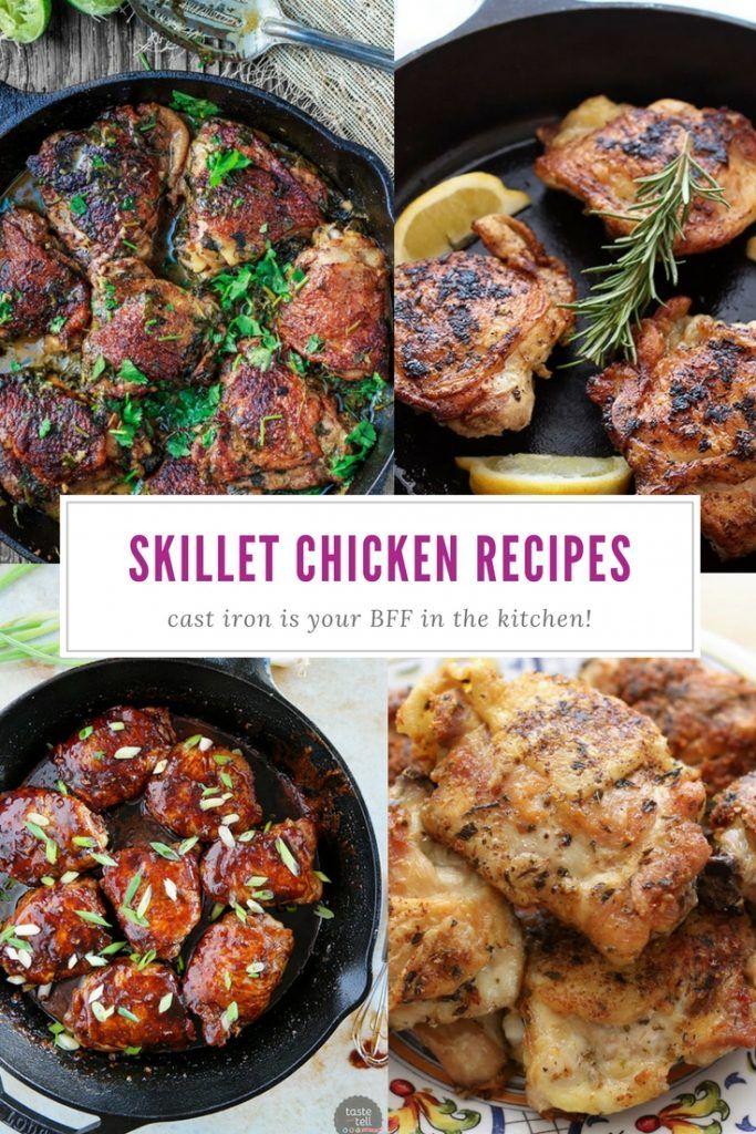Cast Iron Skillet Chicken Thigh Recipes | Best Chicken Cast Iron Pan Recipes