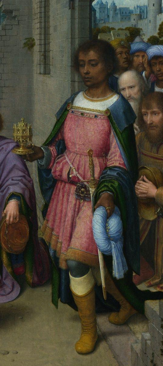 Adoration of the Kings Altarpiece, detail. Gerard David. Bruges (1515). Oil on Oak. National Gallery, London.