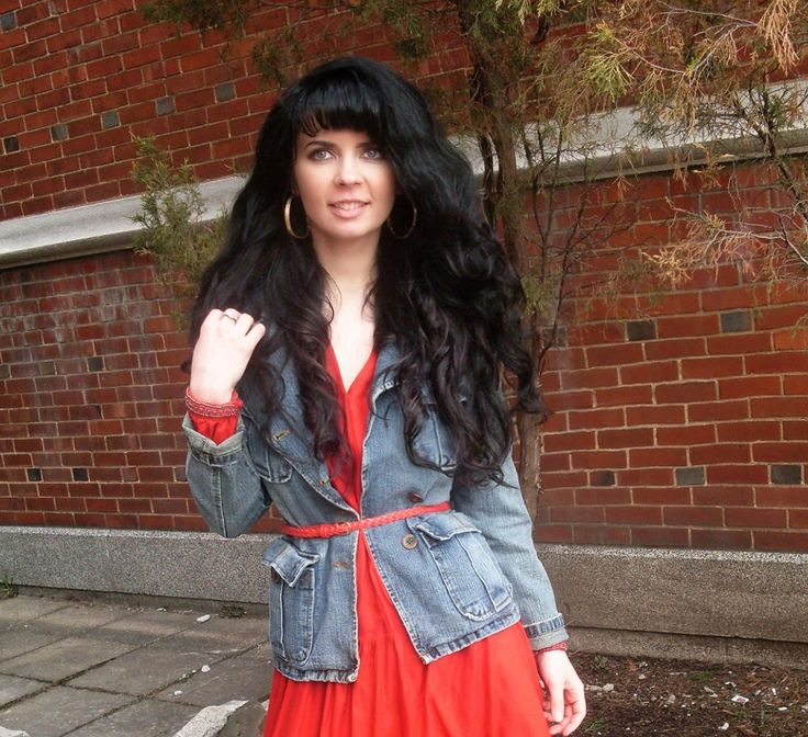 denim style ,...popular fashion trend on fashion shows for many years due to stylish look. denim jacket is a must have item,..3 ways to style denim jacket #Beautiful #outfit with #denim #jacket & #red #dress  more photos here  http://www.jenniferkaya.com/?p=4191 / Jennifer Kaya  Canadian fashion blogger www.jenniferkaya.com  #style #fashion #ootd #fashionblogger #denim #jeans #yellow #yellowtop #blue #blue outfit #streetstyle #denimlook #ootd #heels #high heels #hair #fashion #style…