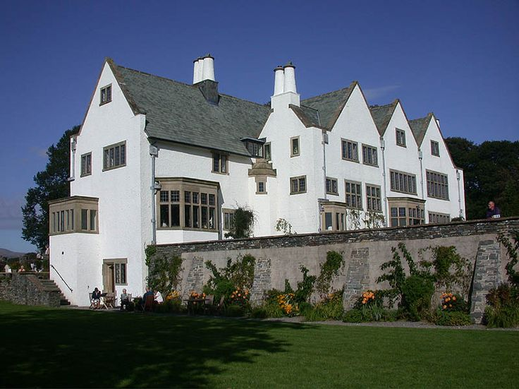 Exterior view of 'Blackwell' designed by M.A Baille Scott between 1897 - 1900.  via mahala knight