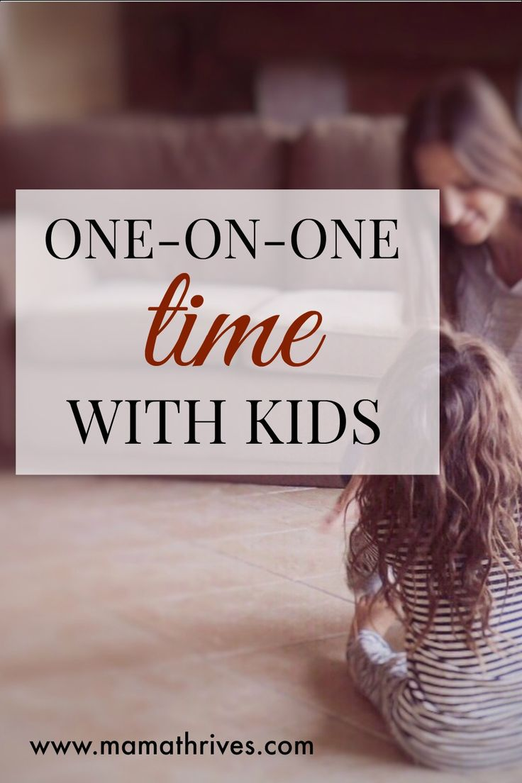Struggling to figure out how to spend one-on-one time with your kids? This worked for me!