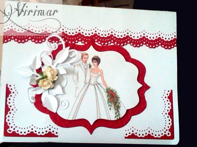 Hermosa tarjeta para boda