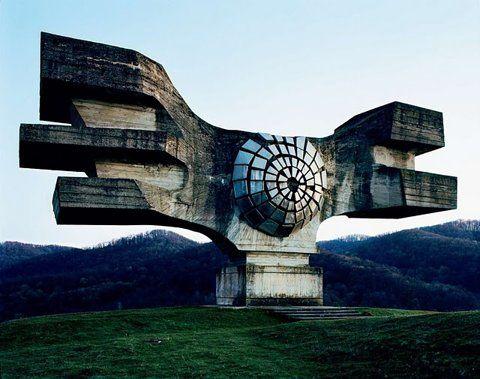 Retro futuristic Yugoslavian monuments.