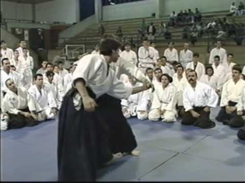 NOBUYOSHI TAMURA SENSEI 8 TH DAN , YOSHIMITSU YAMADA SENSEI 8 TH DAN  AIKIDO