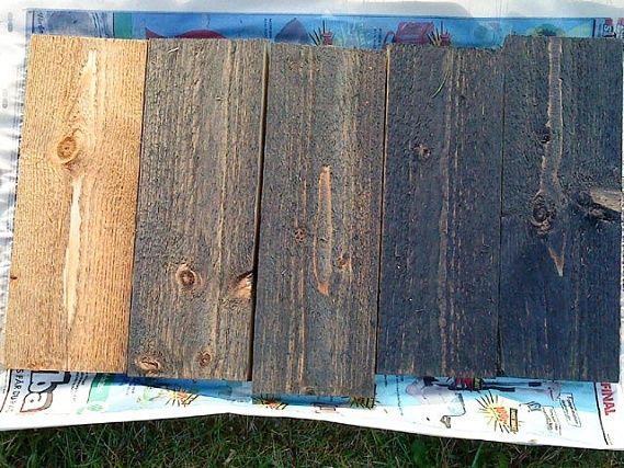 Roslagsmahogny brytningar Från vänster: Naturell, 1msk brytbas, 2msk brytbas, 4msk brytbas och 6 msk brytbas i total mängd 15 dl roslagsmahogny.