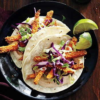 Crispy Sweet-Potato Tacos