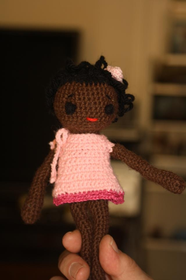 my first little crochet doll for a special little angel...