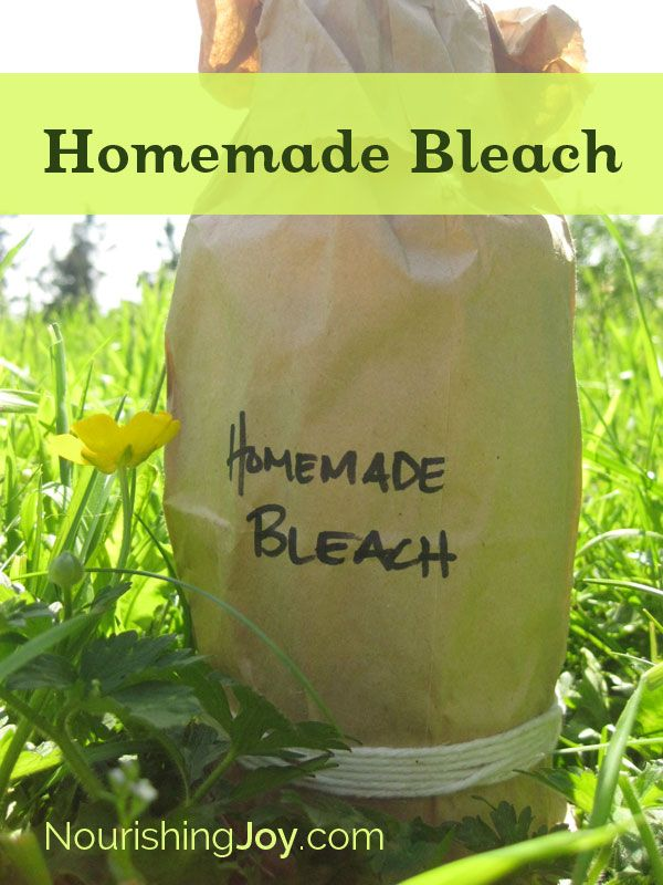 Homemade Bleach - great for cleaning, laundry, and sanitizing!