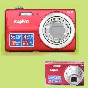 With a 14 MP resolution, the Sanyo VPC T1496 digital camera offers detailed and clear images. The 5X optical zoom of this Sanyo 14 MP camera lets you capture distant objects precisely. Get a refined view of your images and videos on the 3-inch LCD screen of this Sanyo digital camera. The Auto Scene mode of this Sanyo 14 MP camera offers an accurate picture, by automatically identifying the scene. The Smile and Face detection feature of this Sanyo digital camera captures well focused images…