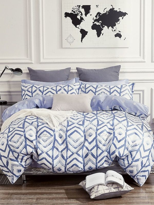 Geometric Feather Duvet Cover 1pc With Images Comfy Bedding