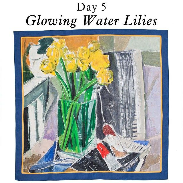 ARGO March Scarves Campaign Day 5 - Glowing Water Lilies Scarf