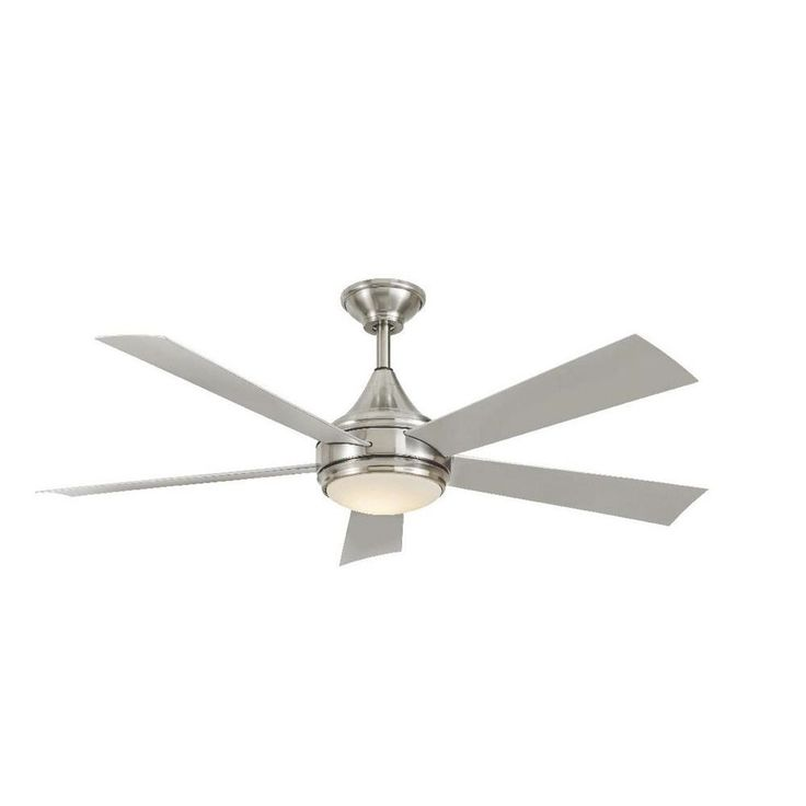 Vintage Small Silver Ceiling Fan With Light