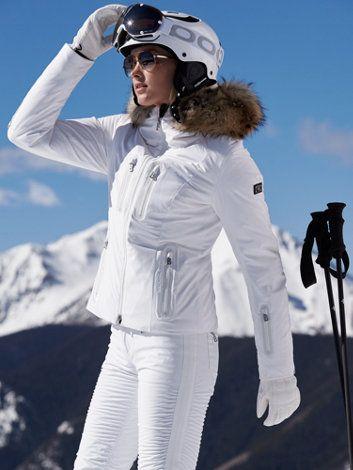 All white ski bunny