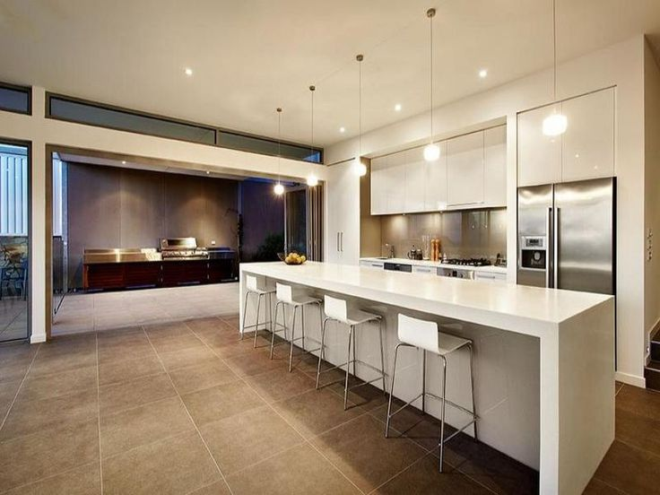 kitchen designs with decorative lighting, down lighting and pendant lighting