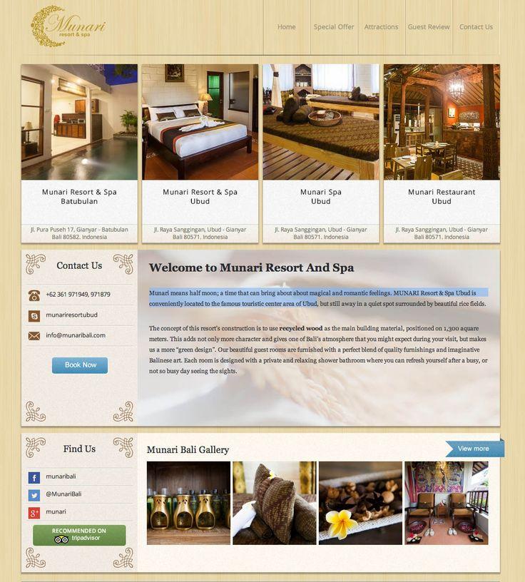Munari Resort & Spa now live @ http://www.munaribali.com