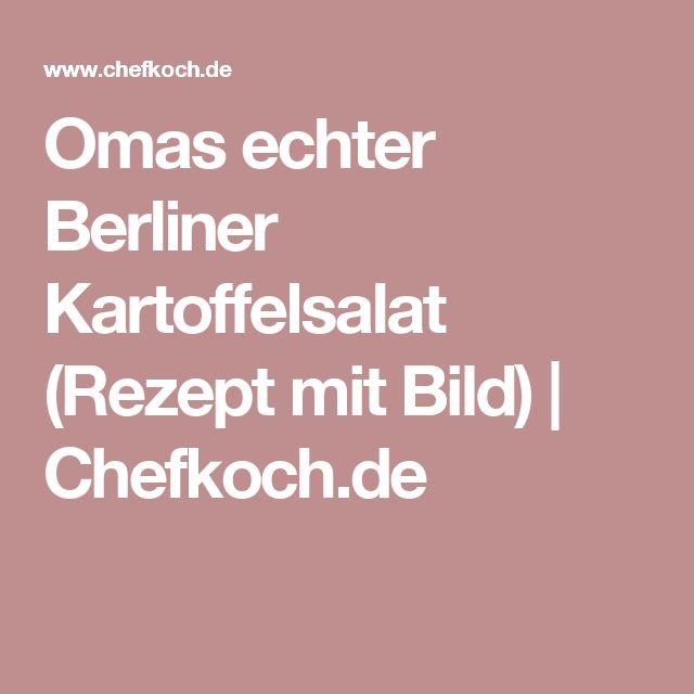 Omas echter Berliner Kartoffelsalat (Rezept mit Bild) | Chefkoch.de