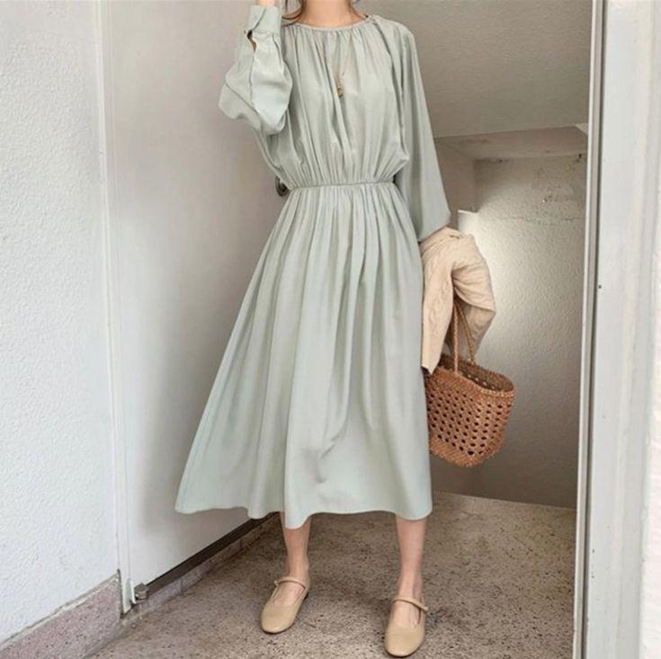 Maxi dress – knit long dress – sweater dress- long dress – loose fitting dress- romantic dress – loose fit dress – minimalist clothing