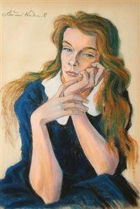 Portret kobiety by Antoni Waskowski