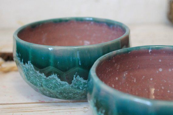 Handmade Ceramic Bowl Set With Faceted Texture 2 Bowls About Handmade Ceramics Ceramic Bowls Bowl Set