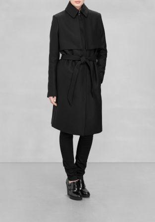Warm wool winter coat