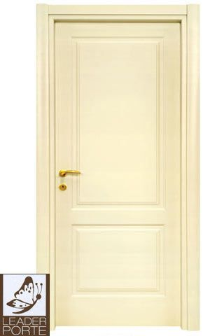 Leader porte 2021 ral 1013 porta in legno tamburata - Porta tamburata legno ...