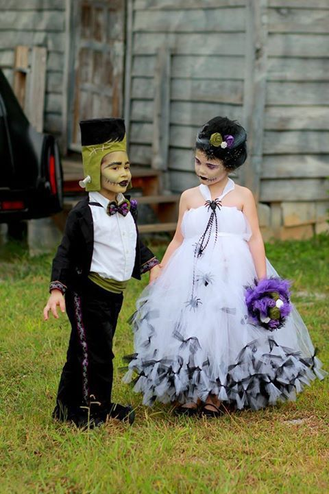 Bride of Frankenstein Costume Tutu Dress by atutudes on Etsy, $99.95