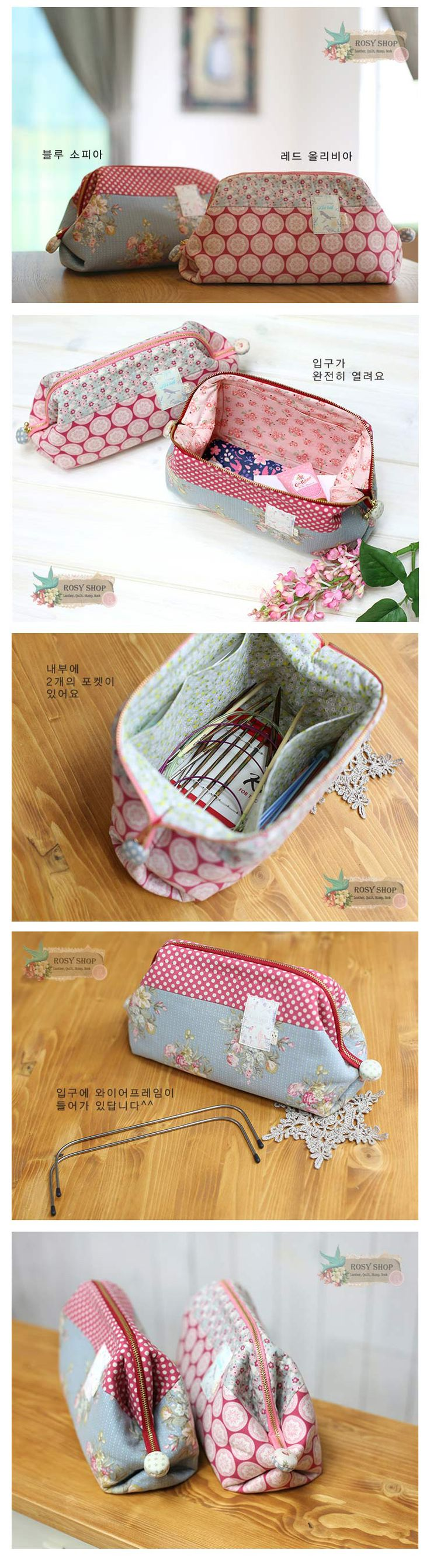 Tilda fabric wire frame pouch http://www.rosyquilt.co.kr/shop/shopdetail.html?branduid=252665&xcode=002&mcode=004&scode=&type=X&search=&sort=order