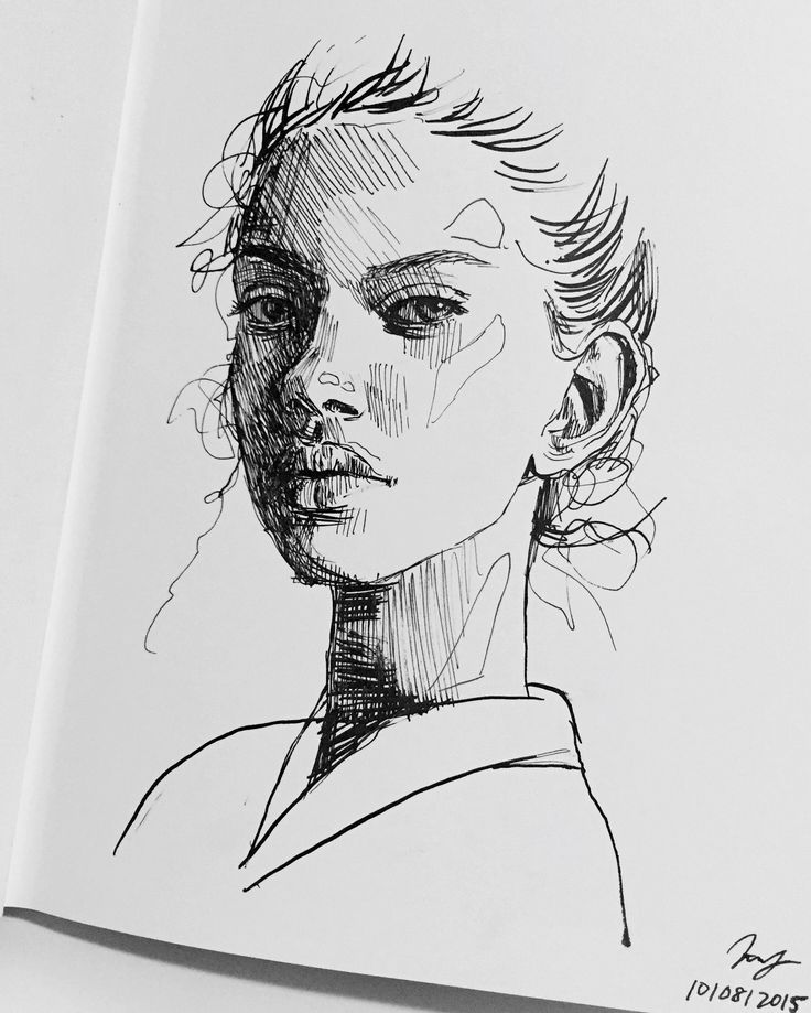 Best 25 sketches of people ideas on pinterest drawings for Ink drawings easy