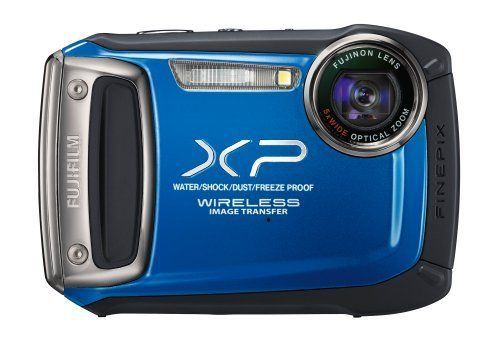 Fujifilm XP170 Compact Digital Camera with 5xOptical Zoom Lens - Blue by Fujifilm. $179.99. From the Manufacturer                      4 Way Protection Waterproof (10m/32.8ft.), Freezeproof (-10°C/14°F), Shockproof (2m/6.6ft.), and Dustproof  Wireless Image Transfer With the FinePix XP170, fast image upload to social networking sites no longer means low quality pictures. The camera can be connected with any Android smartphone/tablet or iPhone/iPad via the simple download of...