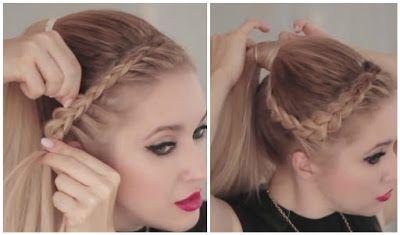Espectacular peinado con cola de caballo y trenza ~ Manoslindas.com
