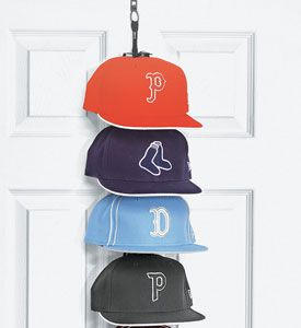The Perfect Curve baseball hat rack makes a great gift for sport memorabilia collectors sports fans and those guys that are always wearing a baseball hat