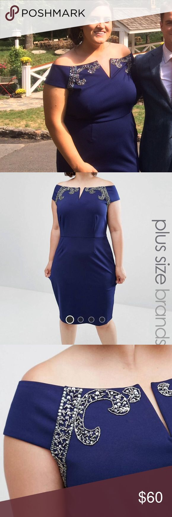 Asos Curve dress Beautifully beaded off the shoulder dress. Wore it to my brothers wedding and it was such a great dress! Very comfy and beautiful! ASOS Curve Dresses Mini