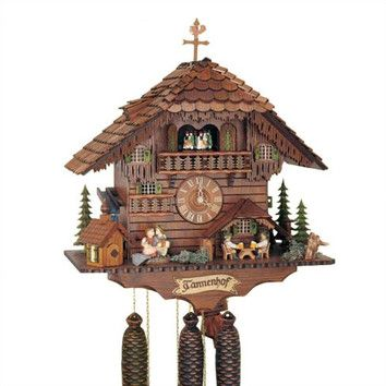 """Schneider 20"""" 8-Day Movement Cuckoo Clock with Two Different Animations"""
