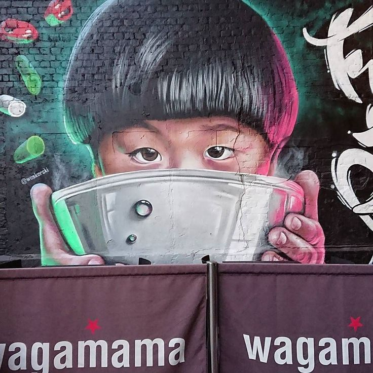 Loving the @wagamama_uk #streetart #ramenLove  This is not a sponsored post  But ahem... Open to a free bowl of noodles
