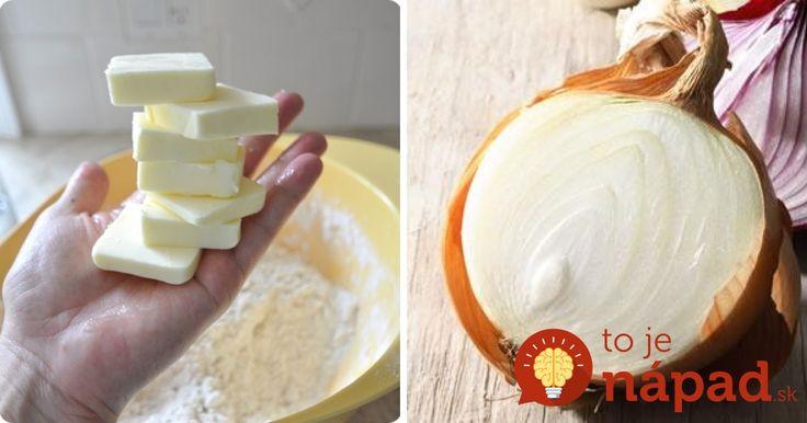 Viete, prečo by ste mali rozkrojenú cibuľu potrieť trochou masla? Prekvapí vás, aké je to užitočné!