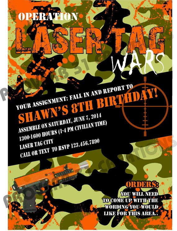 Camo Laser Tag OR Paint ball choice of one by WaterWalkerEvents