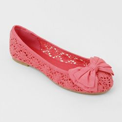 Spring coral flats with bow
