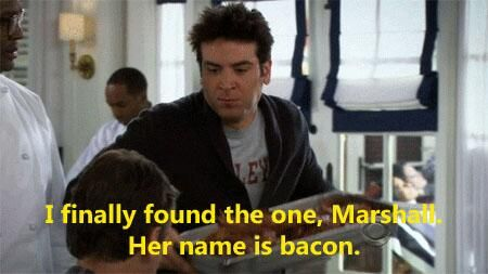 The first time Ted Mosby had bacon - HIMYM