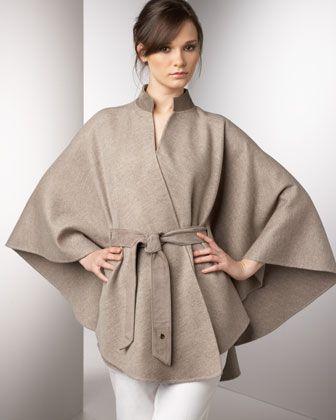 Sloane Cape by Loro Piana at Bergdorf Goodman.