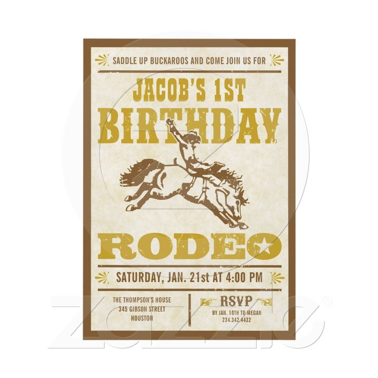 56 best Party Perfect - Cowboy Birthday images on Pinterest ...