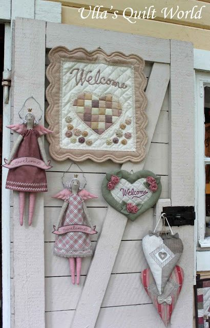 Ulla's Quilt World: Welcome wall hanging quilt