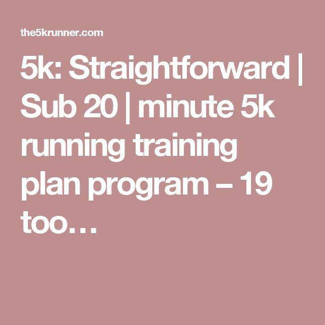 5k: Straightforward | Sub 20 | minute 5k running training plan program – 19 too…