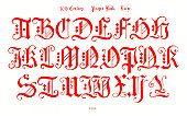 16th century alphabet from prayer book