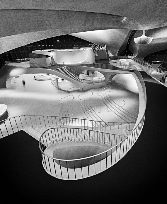 Interior of Eero Saarinen's TWA Terminal at Idlewild