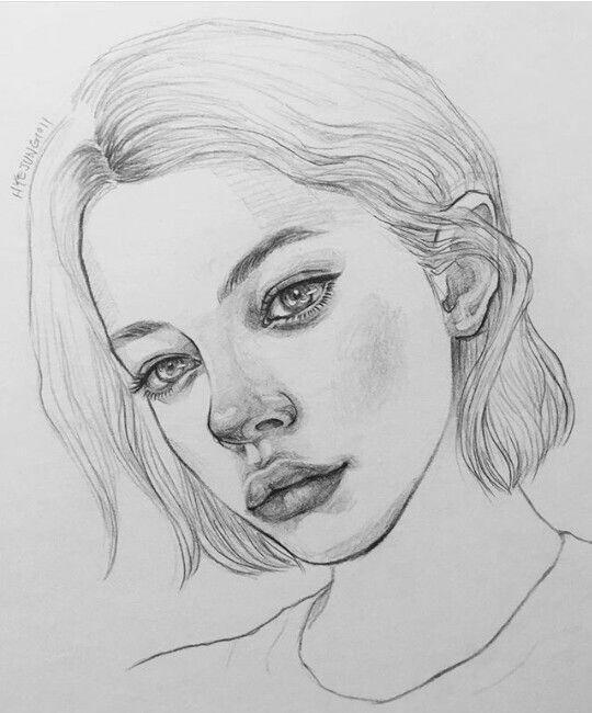Karakalem Bayan Erkek Sac Cizimleri Resim Pinterest Pencil