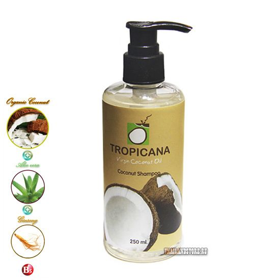 Кокосовый лечебный шампунь д\в (Tropicana)-250мл.