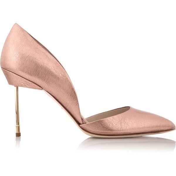 Kurt Geiger London Beaumont Metallic Court Shoes (1 165 PLN) ❤ liked on Polyvore featuring shoes, pumps, rose gold, metallic high heel shoes, high heel shoes, rose gold metallic shoes, high heeled footwear and metallic pumps