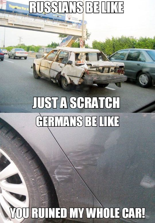 Russians Vs. Germans