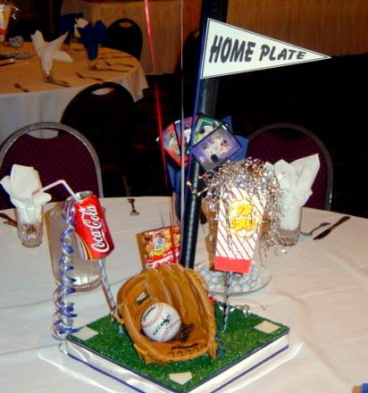 17 best images about spring sports banquet on pinterest for Athletic banquet decoration ideas